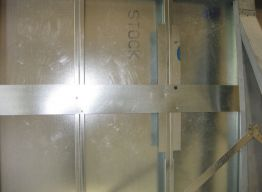 Strapping, along with reinforcement panels, allow for field adjustment at supports