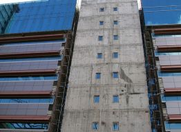 Central core of building - before panels