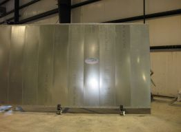 Continuos tracks frame top and bottom of all panels - solid steel prevents air, water and vapor intrusion